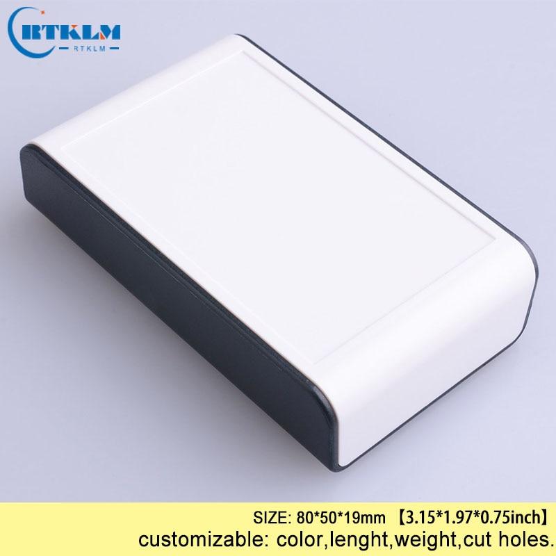DIY пластиковая коробка для проекта, корпус из АБС-пластика, Электронная распределительная коробка, заказной ящик для инструментов, маленькая настольная оболочка 80*50*19 мм - Цвет: BMD60001-A11