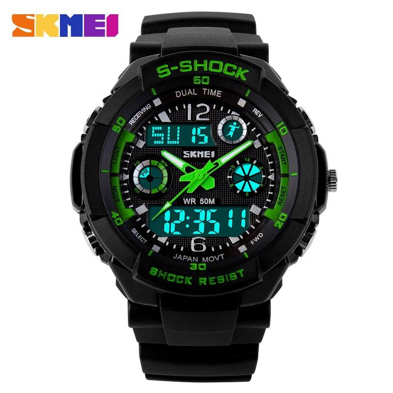 SKMEI Clock Children's Watches Kids Sport Watches Top Brand Double Time Chrono EL Light Water Resistant Wrist Watch Boys 1060