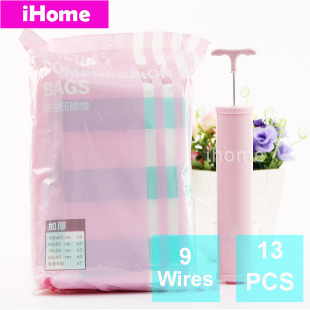 13PCS Vacuum storage Bag Pump Wardrobe Space Saving Waterproof Vacuum Compressed Storage Clothes Quilt Space Saving  sc 1 st  AliExpress.com & 13PCS Vacuum storage Bag Pump Wardrobe Space Saving Waterproof ...