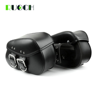Universal Motorcycle Bag Side Bags Leather Motorbike Luggage Bag for Harley Davidson Sportster XL1200 XL883 Softail