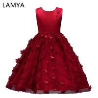 LAMYA Girl S Flower Dress Kids Butterfly Birthday Party Dresses Children Fancy Princess Ball Gown Wedding