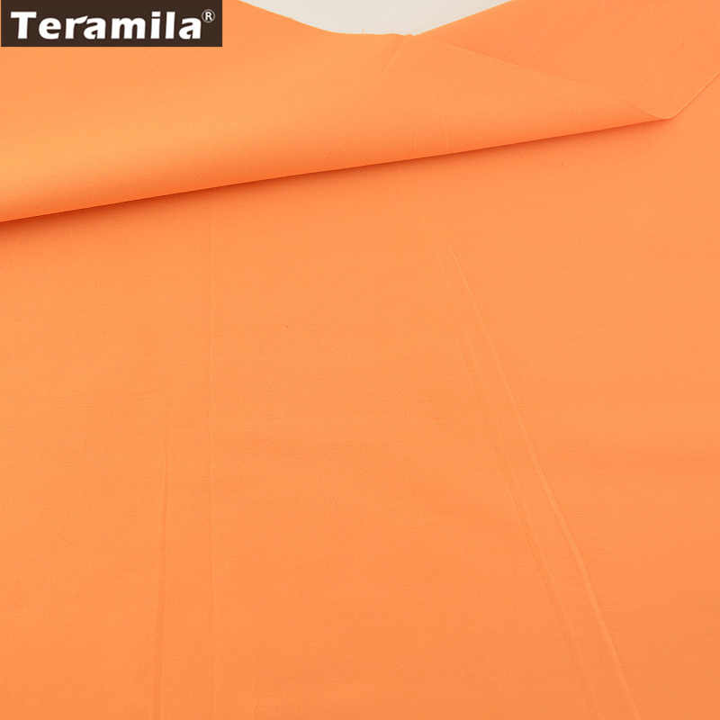 New Arrivals Classic Solid Orange Color High Quality 100% Cotton Fabric Twill Fat Quarter Home Textile Material Sewing Cloth
