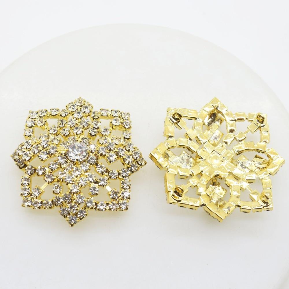 5pcs/Lot 48MM Diamomd Alloy Rhinestone Button Diamond Metal Buttons for Wedding Craft Ribbon