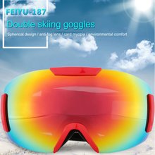 187 Double Layers Windproof Sunglasses Ski Goggles Glasses Eyewear Outdoor Sports Riding Skating Skiing Accessories