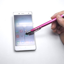 New design stylus metal pen! 10 colors for you stylus touch screen +writing pen+logo personalized +free shipping small MOQ