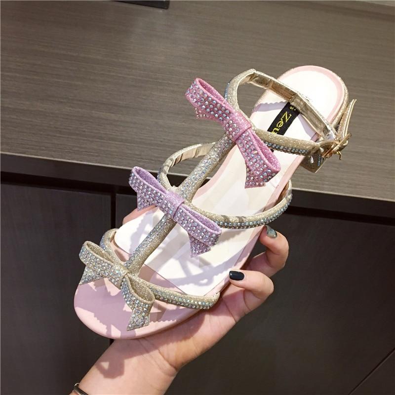 6452593d108a58 HTB1zNK hHwrBKNjSZPcq6xpapXaA New Women Summer Sandals Bling Bling Crystal  Bowknot Decor Sandals Runway Chunky Heels Pumps Gladiator