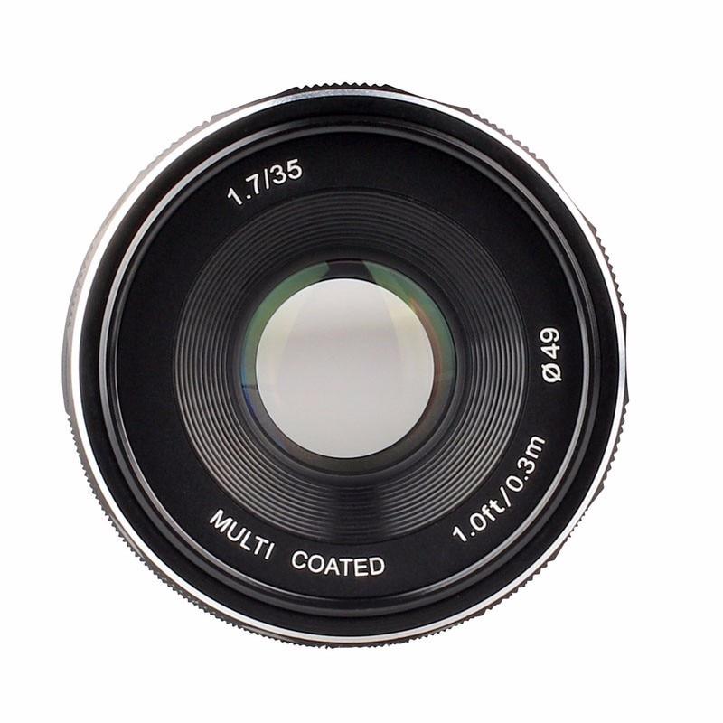 Meike MK-N1-35mm-f/1.7 35mm f1.7 Grande Apertura lente Messa A Fuoco Manuale APS-C Per Nikon 1 J1 V1 mountMeike MK-N1-35mm-f/1.7 35mm f1.7 Grande Apertura lente Messa A Fuoco Manuale APS-C Per Nikon 1 J1 V1 mount