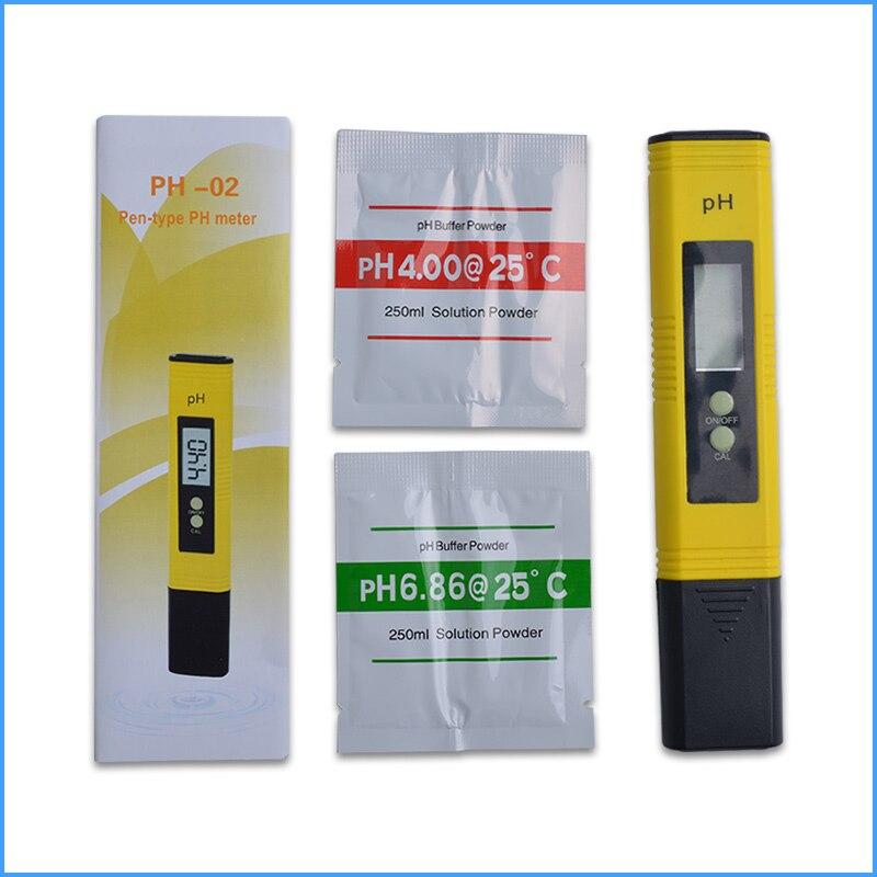 100 pz/lotto LCD Digital Pen Tipo PH Meter Range: 0.00 ~ 14.00 di Qualità Dell'acqua del Tester per Acquario Piscina di Acqua Vino di Urina