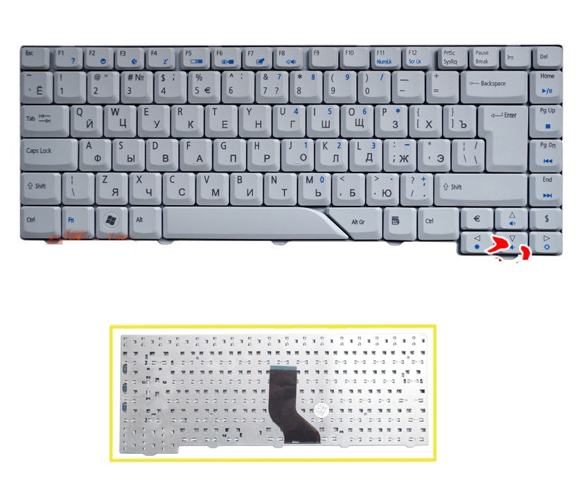 SSEA New Russian Keyboard RU for <font><b>Acer</b></font> <font><b>Aspire</b></font> 4210 4220 5710 5720 4520 4710 4720 <font><b>4920</b></font> 5910 5220 5310 5520 5235 5920 5930 6920 image