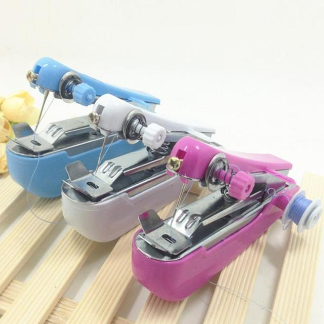 NEW Home Quick Table Hand-Held Single Stitch Sewing Machine Clothes Fabric Portable Travel Household Use Sent Randomly