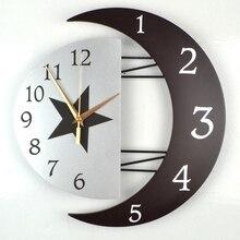 Kingart 12″ And 16 Inch Children Digital Wooden & Metal Wall Clock Decorative Home Quartz Wall Hanging Clock Kid Room Wall Watch