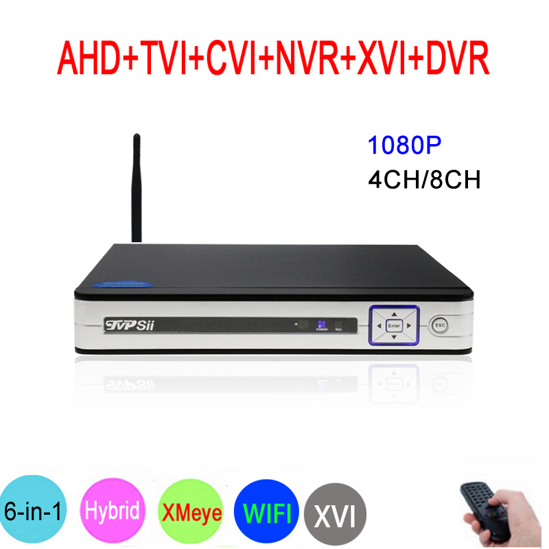 Silver Panel Hi3521A XMeye 8CH/4CH 1080P Surveillance Video Recorder 6 in 1 Hybrid Wifi Onvif NVR TVI CVI AHD DVR Free ShippingSilver Panel Hi3521A XMeye 8CH/4CH 1080P Surveillance Video Recorder 6 in 1 Hybrid Wifi Onvif NVR TVI CVI AHD DVR Free Shipping