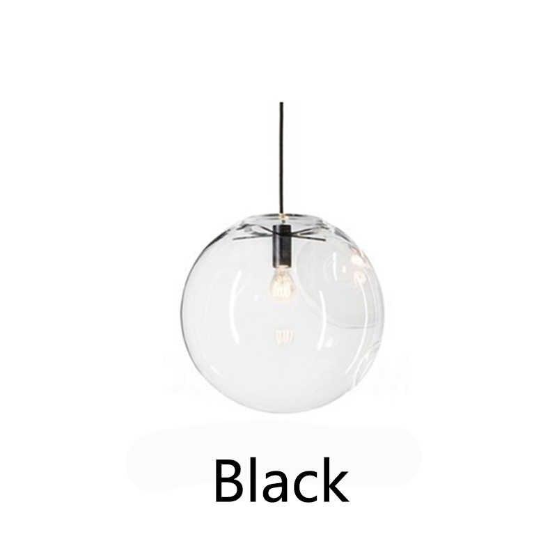 Простой современный стеклянный шар подвесной светильник светодиодный E27 арт-деко Европейский подвесной светильник с 8 стилями для спальни ресторана кухни гостиной