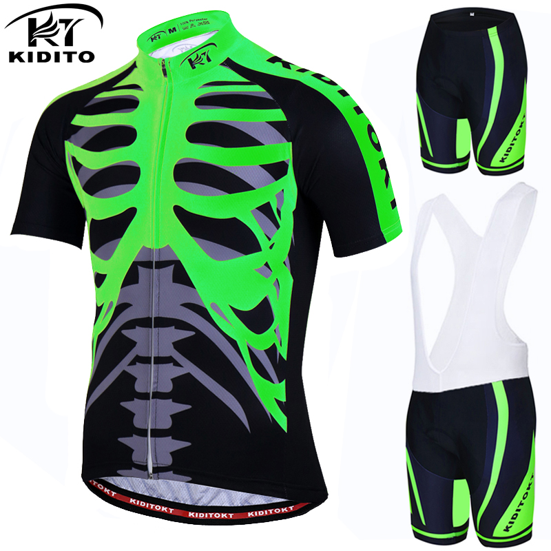 KIDITOKT Pro Cycling Jersey set / Bike uniform Cycle shirt Ropa ciclismo / Bicycle Clothing Wear MTB Cycling Clothing Cycling Set