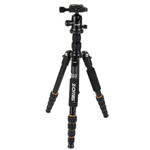 Zomei Q666 Lightweight Tripod For DSLR Camera Ball Head Monopod Tripod Compact Travel Camera Stand For Canon Nikon Sony SLR zomei z699c carbon fiber camera tripod stand lightweight portable with ball head travel tripode for canon sony nikon dslr camera