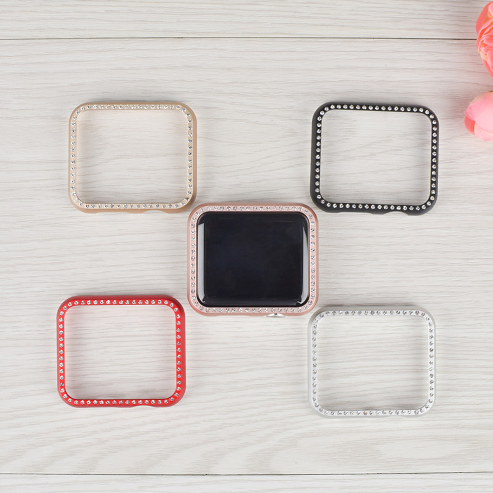 case cover For Apple watch 4 44mm/40mm Iwatch strap 3/2 42mm 38mm Aluminum alloy Frame Diamond protective shell Accessories case cover for apple watch 4 44mm 40mm iwatch strap 3 2 42mm 38mm aluminum alloy frame diamond protective shell accessories