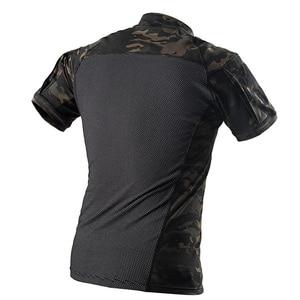 Image 2 - Mega kamuflaj askeri tişört erkekler yaz RU kurbağa askerler savaş taktik T Shirt askeri kuvvet Multicam Tee Camo kısa kollu