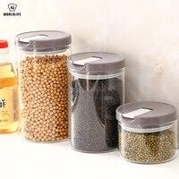 Japan Glass Seal Up Pot Kitchen Transparent Storage Tank Bottle Coffee Bean Powdered Milk Candy Pot Coarse Cereals Tea Pot