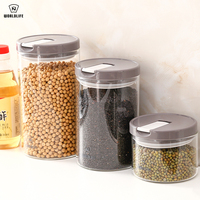 Japan Glass Seal Up Pot Kitchen Transparent Storage Tank Bottle Coffee Bean Powdered Milk Candy Pot Coarse Cereals Tea Pot