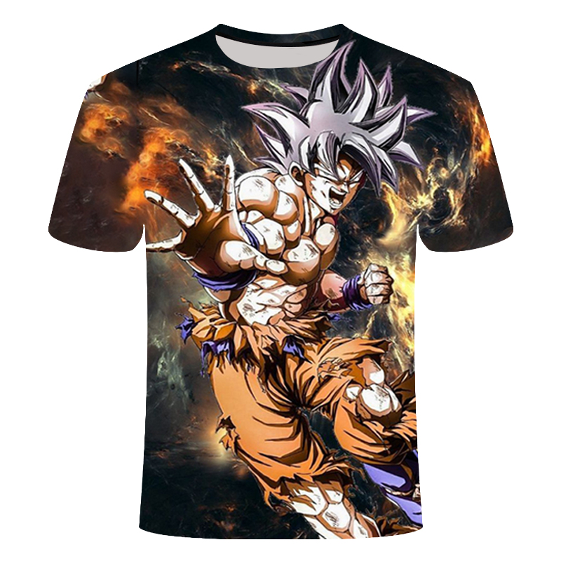 New Dragon Ball Z Goku 3D t shirt Short Sleeve O-Neck t-Shirt Summer Saiyan Vegeta Harajuku Brand Clothing TShirt Asian size 6XL