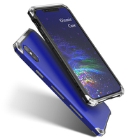 Ginmic For Apple Iphone X Case Cover Shockproof Metal Plastic Hybrid Armor Phone Cover Coque For