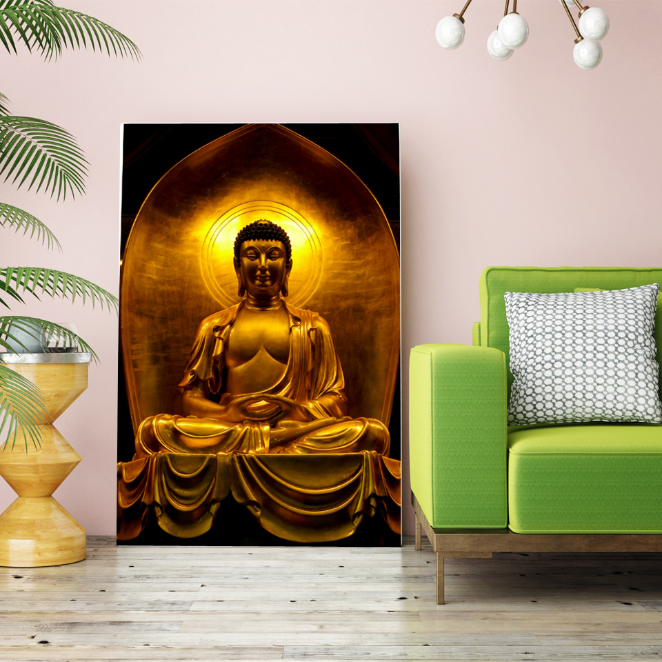 1 Pieces HD Printed Buddha Painting Zen Wall Art Paintings For Living Room  Wall Free Shipping/NY 6831C In Painting U0026 Calligraphy From Home U0026 Garden On  ...