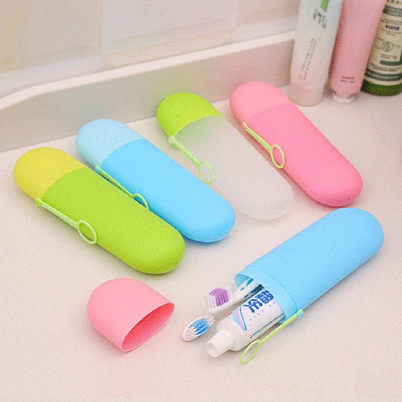 Travel Camping Portable Multifunction Capsule Shape Case Container Box For Towel