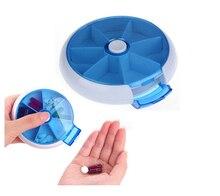 Поворотный 7 Дней Окружающей Портативный Ящик Для Хранения Наркотиков Неделю Таблетки Случае Медицина TW2