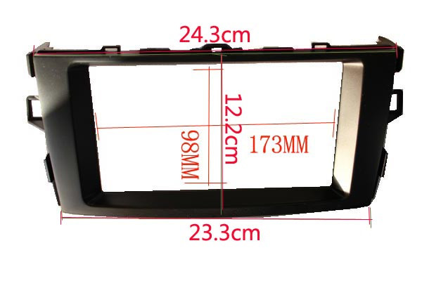 Flash Deal Car refitting DVD frame DVD panel Dash Kit Radio Audio Fascia for 2011 Toyota Auris, Corolla ,2DIN 2
