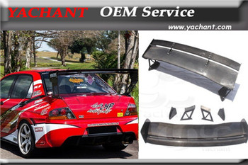 Carbon Fiber 1400mm Rear Trunk Spoiler Fit For 01-07 Mitsubishi Lancer Evolution 7-9  EVO 7 8 9 VTX Type5V Style GT Wing Spoiler