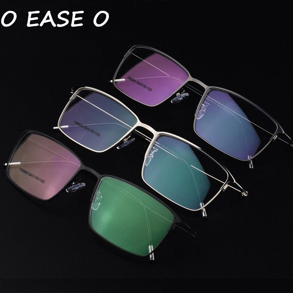 O EASE O Vintage Decoration Optical Eyeglasses Frames Myopia Metal Alloy Men Spectacles Oculos Eyewear F6059