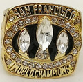 Wholesale Super Bowl 1988 San Francisco 49ers Zinc Alloy 24K gold plated Custom Sports Replica World Championship Ring for Fans