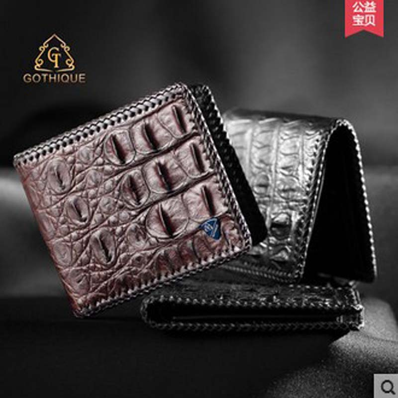 цены gete 2018 new hot free shipping real Thai crocodile purse male wallet men cross style men purse men wallet