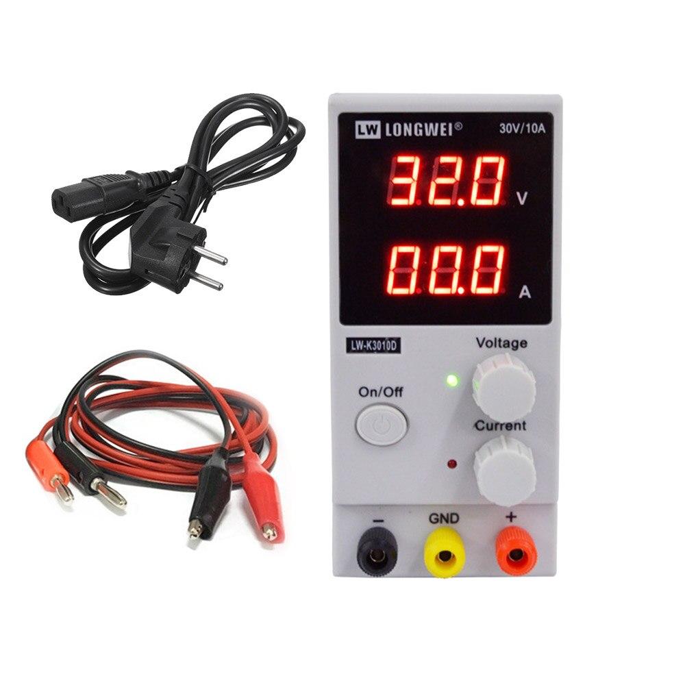 Régulateurs de tension LW-K3010D DC Alimentation Réglable Numérique Batterie Au Lithium De Charge 30 v 10A Commutateur Laboratoire Alimentation