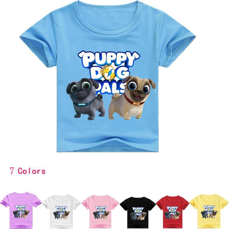 Z&Y 2-16Years Pet Puppy Dog Pals Costume Fnaf T Shirts Baby Boy Summer Clothes Jamper Dudu Teenage Girl T-shirt Short Sleeves