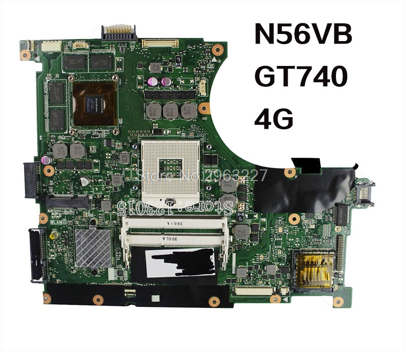 Original N56VB GT740M Laptop Motherboard REV2.3 4Gb N14P-GE-OP-A2 N56V N56VV N56VZ N56V N56VJ N56VJ mainboard 100% tested цены