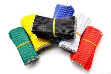 100 יח\חבילה פח מצופה טיפוס Jumper כבלי חוט 10 cm 24AWG עבור Arduino 5 צבעים גמיש שני הקצוות PVC חוט אלקטרוני
