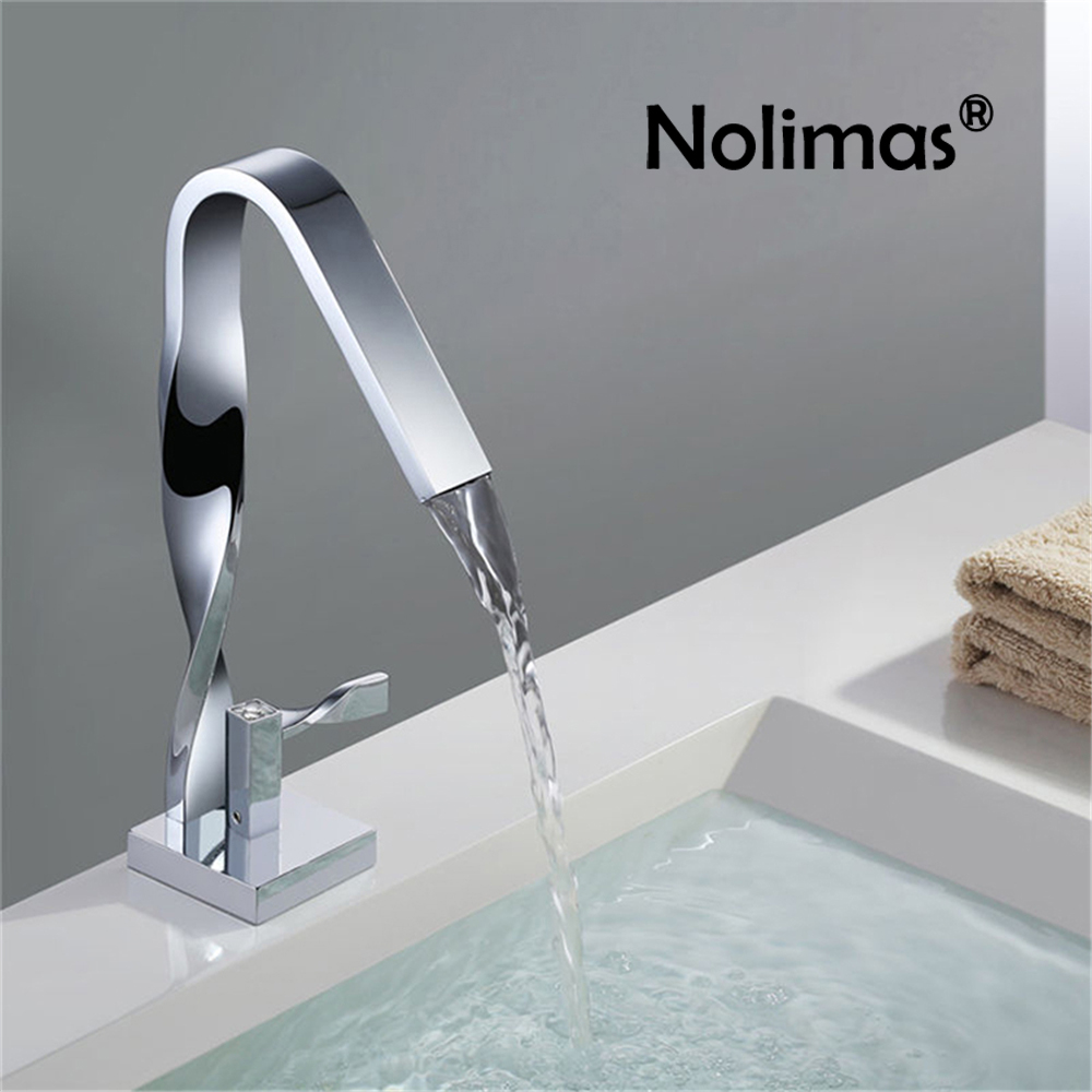 Twist Chrome Basin Faucet Special Bathroom Single Handle