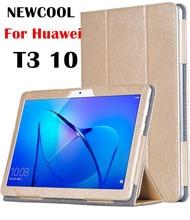 T3 10.0 Imán Grano de Seda PU funda de Cuero Cubierta Para Huawei MediaPad T3 10 AGS-L09 AGS-L03 9.6 caja de la tableta cubierta del soporte
