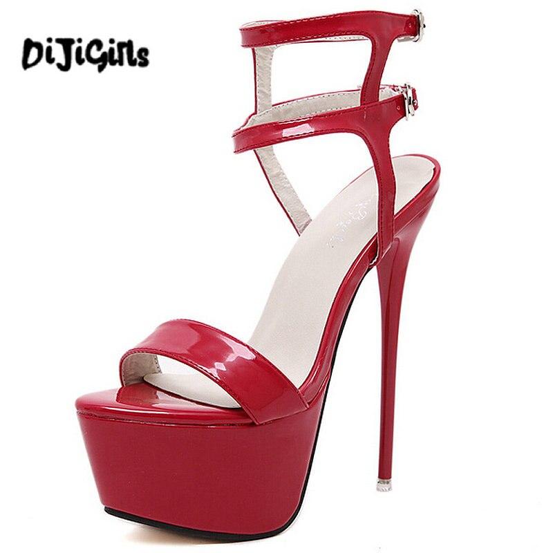DIJIGIRLS Fashion Summer Women High Heels Sandals 16cm Sexy Stripper Shoes  Party Pumps Shoes Women Gladiator Platform Sandals-in High Heels from Shoes  on ... 0ff3d812ebc4