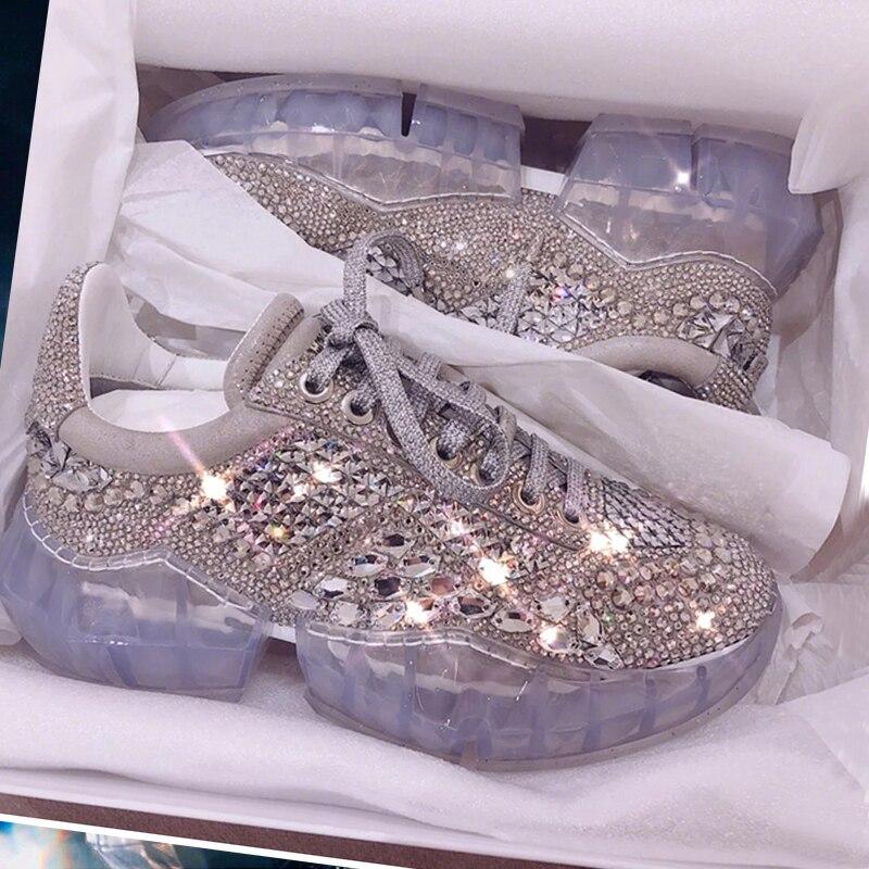 2019 Spring New Sizzling Sale Crystal Rhinestone Ladies Sneakers Platform Informal Footwear Excessive High quality silver Bling Feminine footwear Ladies's Pumps, Low-cost Ladies's Pumps, 2019 Spring New Sizzling Sale...