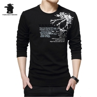 Designer Mens Long Sleeve T Shirt Spring Autumn Fashion Printing Round Collar Casual Cotton T Shirt