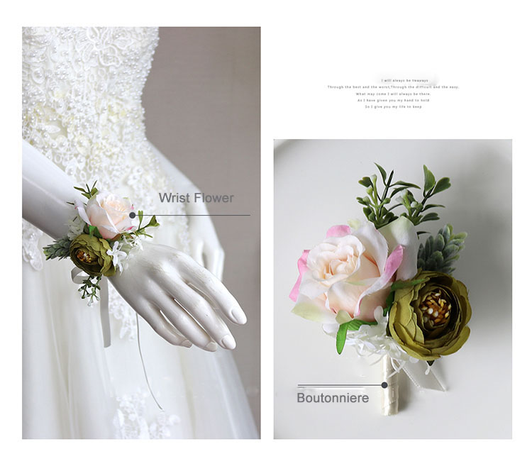 wedding boutonniere wrist corsage marriage  (21)