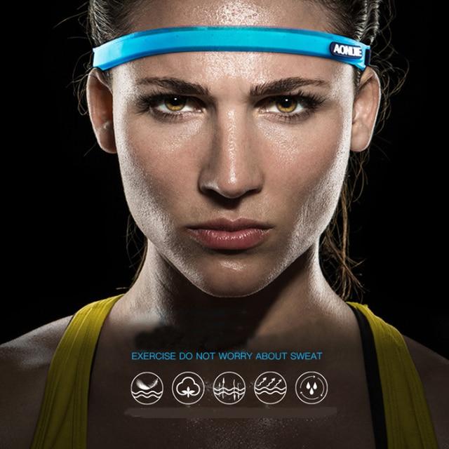 Aonijie E4088 Hair Band Sports Sweat Guide Band Yoga Unisex Adjustable Head Belt Multi-functional Running 3