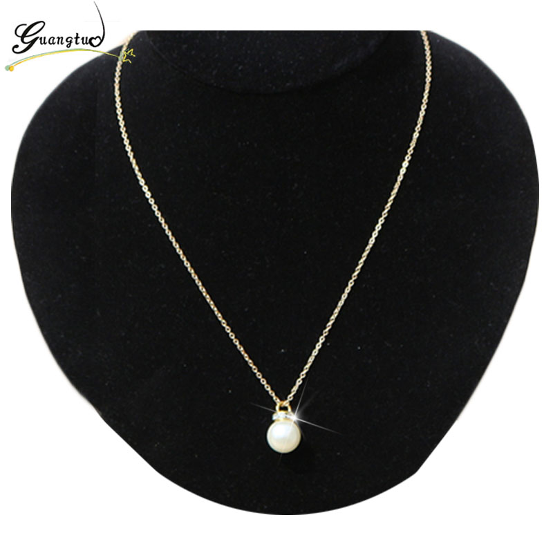 Simulated Pearls Pendant Necklace For Women Collares Chain Necklaces Bijoux Gift Crystal Choker Fashion Jewelry