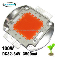 5pcs 100W Full Spectrum 400nm 840nm High Power LED Plant Grow Light Source For Plant Growing