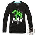 Muchacho de Los Hombres de Manga Larga T-Shirt Camiseta de la Película Hulk Marvel Avengers Superhéroe Camisetas Tee The Incredible Hulk