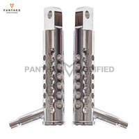 1 Pair Chrome Motorcycle Front Footrests Foot Pegs Moto Foot Rest case for Harley Sportster XL883L XL1200C FXS 2011 UP