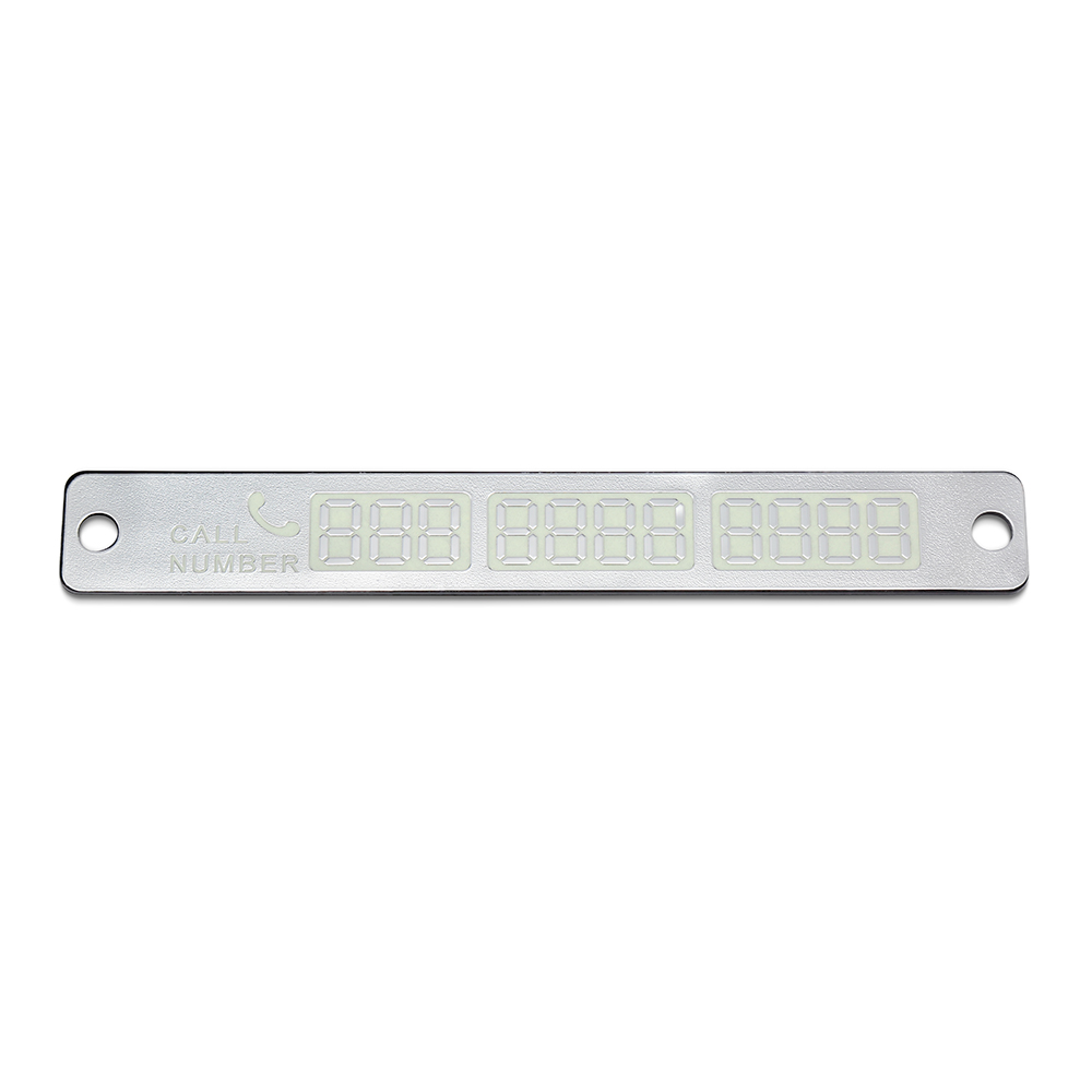 Temporary Car Parking Card Sticker Telephone Number Card Notification Night Light Sucker Plate Car Styling Phone Number Card 10