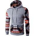 Hoodies Men 2017 Brand Male Long Sleeve Hoodie Printing Stitching Sweatshirt Mens Cardigan Mens Hoodies Slim Tracksuit XXL HFTN